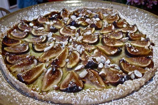 fig tart with crystallized ginger crust